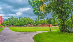 Ramakrishna Mission School Playground (MrSaha) Tags: ramakrishna mission school playground rahara india tree leaves branches plants flower root grass hay way path blue sky cloud clouds day sun sunny evening lowlight long exposure nikon d52000 dslr panaromic tall wide nature landscape manual earth top bright dim shadow light around view look travel happy life lively adventure globe world lonely peace peaceful calm quiet moment sharp clear soft beautiful capture red green color colors vivid vibrant legend