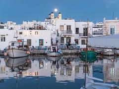 The Blue Hour (Maria-H) Tags: dusk naousa egeo greece gr paros harbour boats cyclades olympus omdem1markii panasonic 1235