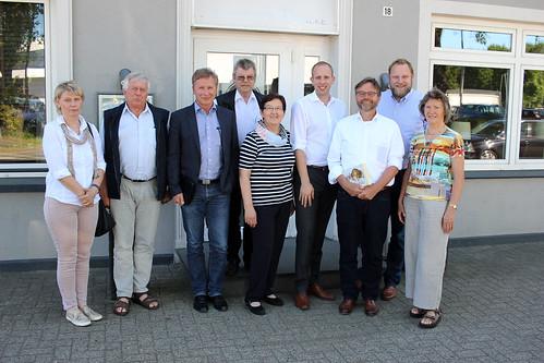 Hintergrundgespräch mit kommunalen ExpertInnen zum Wohnungsbau und meinem Kollegen Michael Groß MdB in Metjendorf.