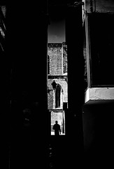 Silhouette (elgunto) Tags: barcelona elborn silhouette dark contrast shadows monochrome blackwhite bw people street sonya7 canonfd28 manuallense