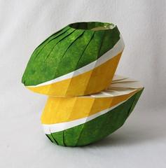 Tilted horizontal shift vase (rgieseking) Tags: origami paper art vase tilt shift horizontal diagonal downhill