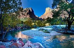 Court of the Patriarchs, Zion National Park, Utah (klauslang99) Tags: klauslang nature naturalworld northamerica national zion park mountains water utah landscapes virgin river
