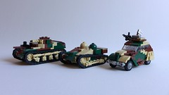 French army as of 2017 May (Rebla) Tags: lego rebla french army 2017 may amr35 renaultue peugeot 202