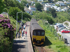 150121 & 150106 Carbis Bay Station (Marky7890) Tags: gwr 150121 150106 class150 sprinter 2a25 carbisbay railway cornwall stivesbayline train