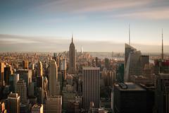 New York City - New York, USA (Dutchflavour) Tags: newyorkcity newyork nyc midtown midtownmanhattan manhattan lowermanhattan unitedstatesofamerica usa longexposure timeexposure sky skyline skyscraper cityscape citylandscape city citycentre goldenhour sunset