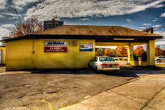 Clark's Auto (that_damn_duck) Tags: architecture building autorepair structure garage pavement