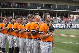 2017 NCAA Baseball Championship, Fayetteville Regional, Oklahoma State Cowboys vs Oral Roberts Golden Eagles, Saturday, June 3, 2017, Baum Stadium, Fayetteville, AR. Bruce Waterfield/OSU Athletics