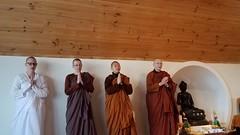 Nuns giving anumodana