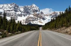 Into the Mountains (Kristin Repsher) Tags: alberta banff banffnationalpark canada canadianrockies df icefieldsparkway mountains nikon road roadtrip rockies rockymountains spring