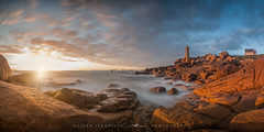 ● côte de granit rose ● brittany ● france ● (Oliver Jerneizig) Tags: côte de granit rose oliver jerneizig oliverjerneizigde wwwoliverjerneizigde oliverjerneizig frankreich france sunset longexposure night citylights landscape landschaft canon 6d canon6d brittany bretagne sundown sunrise sky himmel meer mer mare sea long exposure leuchtturm phare rocks felsen lighthouse