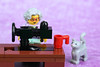 Grandma and her Singer® Classic Sewing Machine (Lesgo LEGO Foto!) Tags: lego minifig minifigs minifigure minifigures collectible collectable legophotography omg toy toys legography fun love cute coolminifig collectibleminifigures collectableminifigure sewing sewingmachine cat kitty grandmother grandma grandmom