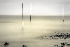 Sticks and stones 3 (MarkWaidson) Tags: porlock weir somerset le longexposure formatt hitech 10 stop polariser 10stop sea beach minimalist colour