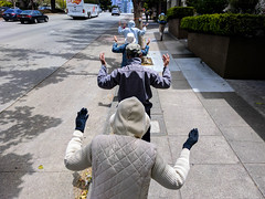 Untitled (kenwalton) Tags: accessories accessory america attire california chinese chinesefood chineserestaurant chineserestaurants clothes clothing dining faith falungong food gloves hat hats headgear human humans japantown northamerica outfit pedestrian pedestrians people person photography religion restaurant restaurants sanfrancisco street streetphoto streetphotography usa unitedstates unitedstatesofamerica urban walker walkers streetphotographer