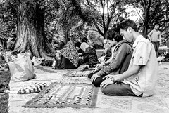 Prayer and seek (A. Yousuf Kurniawan) Tags: prayer people activity dailylife blackandwhite monochrome moslem park citypark hdr urbanlife decisivemoment