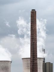 Steam - Power Station (Duisburg-Hüttenheim) (Jens Flachmann) Tags: steam vapour vapor chimney coolingtower powerplant powerstation germany europe duisburg architecture architectural industry industrial clouds sky