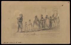 Famille allant à la messe (BNDigital) Tags: escravos negros familia