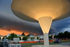 Sturm - Storm (ivlys) Tags: darmstadt stadt city theaterplatz sturm storm himmel sky orange wolken clouds dunkel dark abend evening nature ivlys