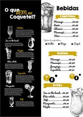 Estudo de cardápio (tafazendoart) Tags: cardapio drinks illustrator vetor chalkboard