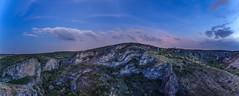 Hoces del río Dulce. (Amparo Hervella) Tags: hocesdelríodulce guadalajara españa spain naturaleza nocturna estrella nube roca largaexposición d7000 nikon nikond7000 comunidadespañola panorámica