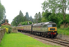 Crowcombe Departure. (curly42) Tags: d1661 class47 brushtype4 duff sulzer railway wsr transport crowcombeheathfield westsomersetrailway preserveddieselloco railwaypreservation