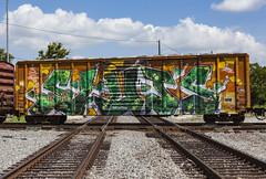 (o texano) Tags: houston texas graffiti trains freights bench benching wholecar sluts