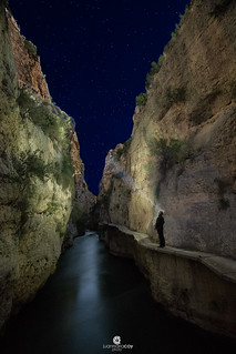 Starry night over Los Alamedenes canyon - Las Minas (Hellín, Albacete, Spain)