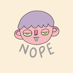 Nope (beckygarratt) Tags: nope drawing illustration redbubble society6 kawaii cute digital art simple cartoon pastel beckygarratt