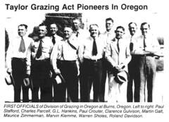 Taylor Grazing Act Pioneers in Oregon (BLMOregon) Tags: blm bureauoflandmanagement taylor grazing act 1934 1884 historic range cattle rancher