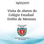 Visita de alunos do Colégio Estadual Emílio de Menezes 19/05/2017