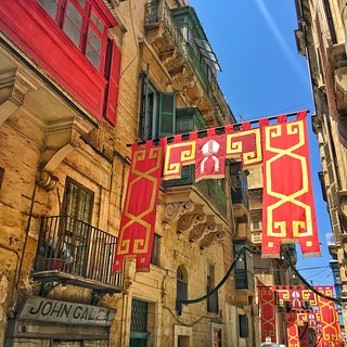 Banners in Valletta