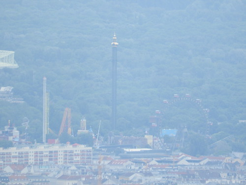 Prater amusement park with ferris wheel (from Habsburgwarte)