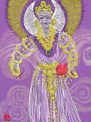A Goddess for Today, May 24, 2017 (frnjpn) Tags: ipad lotus designs deity kannonsama hotpink jewelry jewlry jewels goddess digitalart fingerpainting jewelrydesign ipadart feministart iconography artrage kali ipadpainting touchpainting