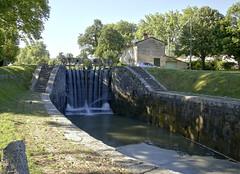 Ecluse double de Laval. Bassin inférieur. (sergeimbert) Tags: gardouch hautegaronne lauragais ecluses