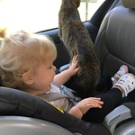 Taliah and her first kitty thumbnail