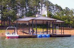 Side Slip or PWC Slip Hip Roof Docks