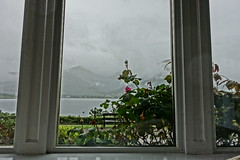 View from the sitting room over Loch Linnhe (Sparky the Neon Cat) Tags: europe uk united kingdom gb great britain scotland scottish highland north ballachulish creag mhor lodge landscape countryside mountain mist cloud loch linnhe