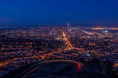 San Francisco (Juan Pablo J.) Tags: sony sonya68 sky bluehour blue bayarea cityscape california city color sanfrancisco lights longexposurephotography nightphotography