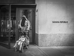 Banana Republic in New York - - stranger No. 7 (Klaus Mokosch) Tags: city cityscape urban street streetlife nyc usa america klausmokosch monochrome mono bw blackwhite schwarzweiss people