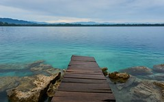 Lachuá (lurcon) Tags: landscape lake color water travel blue beautiful dock turquoise guatemala lachuá