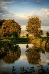 - a n s a - (swaily ◘ Claudio Parente) Tags: fucino abruzzo marsica canali canale acqua tramonto luce swaily claudioparente nikon d300