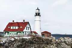Portland Head Light, Maine (sheldonannphotography) Tags: lighthouse light house portland head maine new england blue red rocks water white