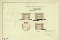 Manor Place Public Urinal plans, 1912 (Dunedin City Council Archives) Tags: dunedin historic toilets urinals comfort stations conveniences