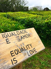 equality is love (ekelly80) Tags: azores portugal sãomiguel may2017 teaplantation tea greentea chágorreana field rows tealeaves leaves walk equalityislove sign