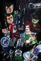 Joker's Reckoning (LordAllo) Tags: lego batman art alex ross jokers reckoning joker catwoman twoface harley quinn poison ivy riddler scarecrow talia ras al ghul penguin solomon grundy copic marker comic