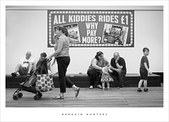 Bargain hunters (Parallax Corporation) Tags: southport southportpier amusements candid blackandwhite monochrome holdaymakers summertime people