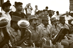 Pondicherry Police Band (Balaji Bharadwaj) Tags: band music pondicherry beach promenade sepia