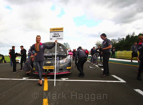 Chris Smiley on the BTCC grid at Croft, June 2017