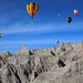 Balloons and Badlands (Notkalvin) Tags: hotairballoons balloons badlands badlandsnationalpark southdakota notkalvin mikekline notkalvinphotography outdoor creative erosion hills mountains color nopeople creativity imagination composite art explore explored flickrexplore thankyou