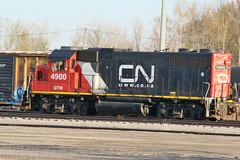 CN (GTW) 4900 EMD GP38-2 Sitting In Port Huron Yard (drum118) Tags: michiganphoto porthuronphoto cnrail cngtw4900emdgp382 built21972 sittinginporthuronyard