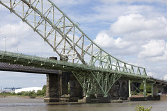Details of Runcorn bridges seen from Manchester Ship Canal, May 2017 (Rochdale 235) Tags: manchestershipcanal runcorn bridge bridges